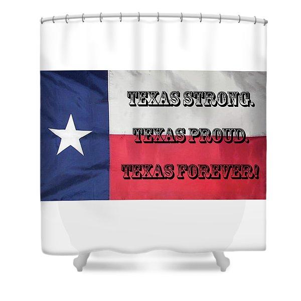 Texas Strong Shower Curtain