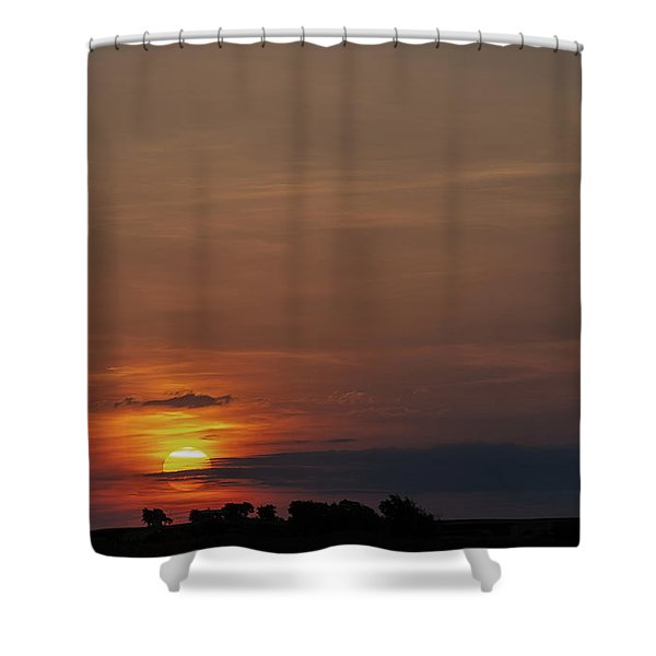 Texas Sunrise Shower Curtain