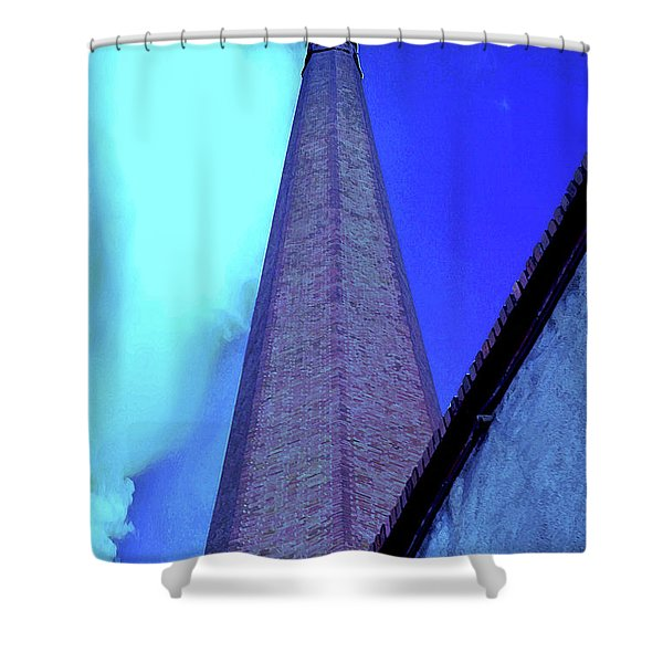 Textile Time Shower Curtain