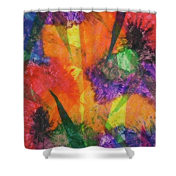 Texture Garden Shower Curtain