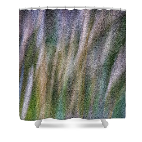 Textured Abstract Shower Curtain