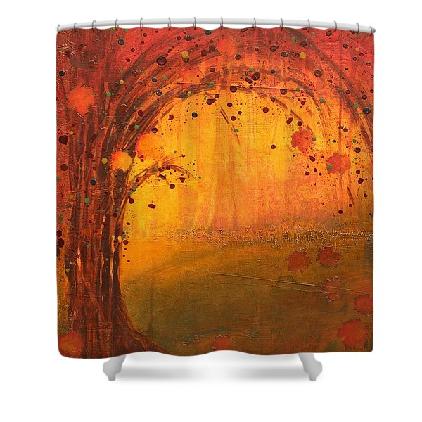 Textured Fall - Tree Series Shower Curtain