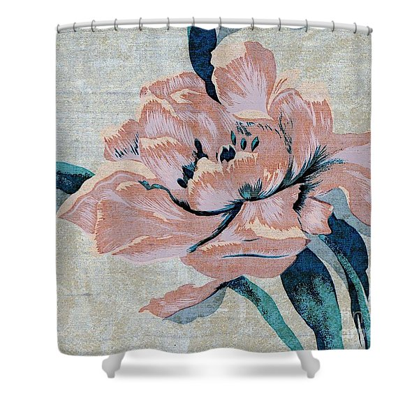Textured Floral No.2 Shower Curtain