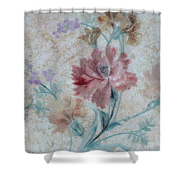 Textured Florals No.1 Shower Curtain