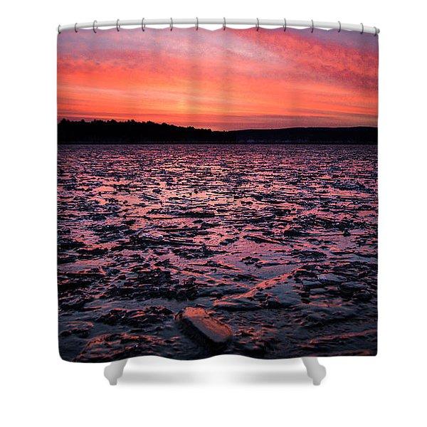 Textured Ice Shower Curtain