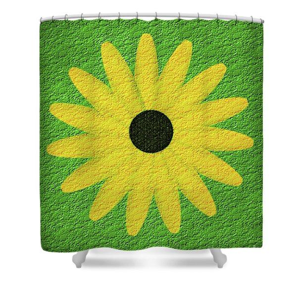 Textured Yellow Daisy Shower Curtain