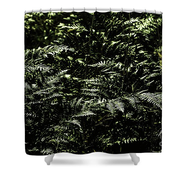Textures Of A Rainforest Shower Curtain