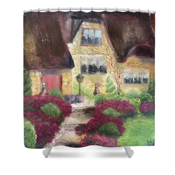 April Cottage The Cotswolds Shower Curtain