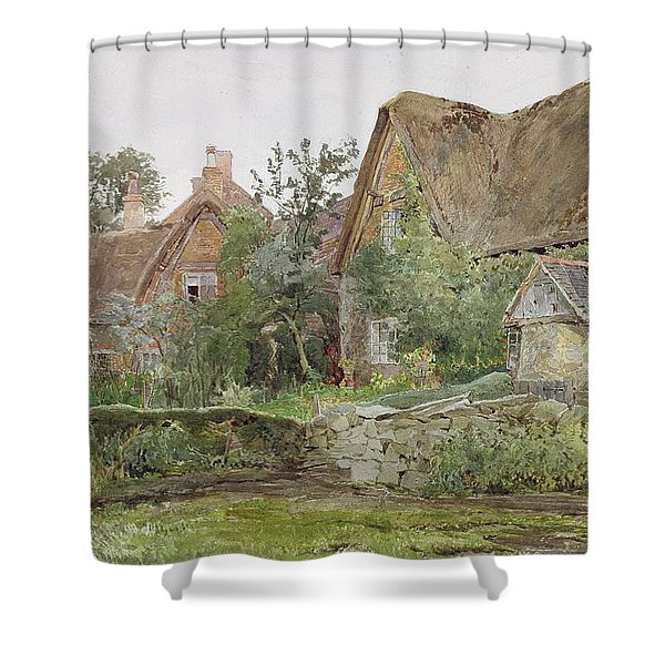 Thatched Cottages And Cottage Gardens Shower Curtain