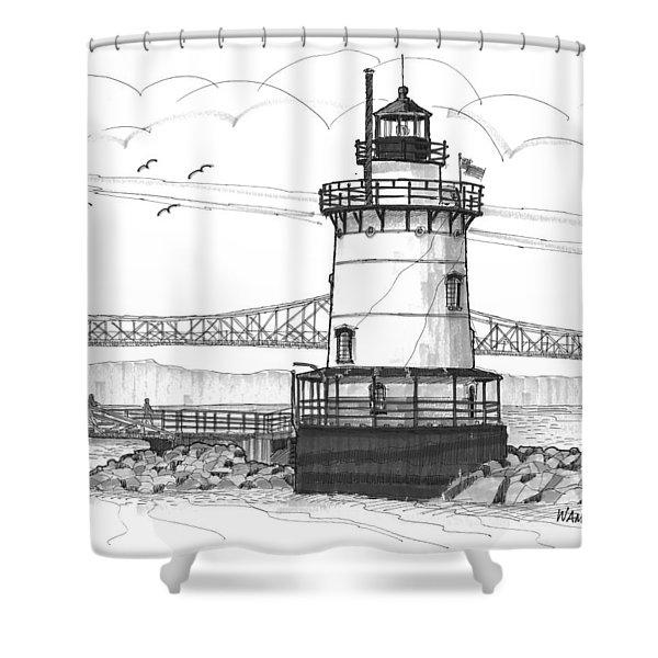 The 1883 Lighthouse At Sleepy Hollow Shower Curtain