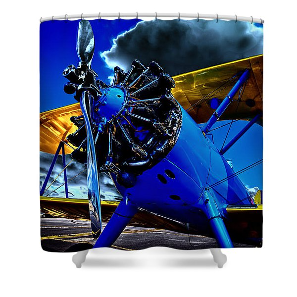 The 1940 Stearman Kadet Shower Curtain