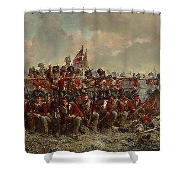 The 28th Regiment At Quatre Bras Shower Curtain