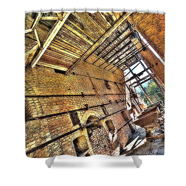 The Abandoned Furnace Quarry Building Shower Curtain