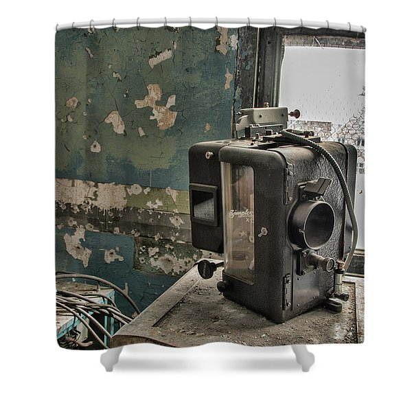 The Abandoned Projector Shower Curtain