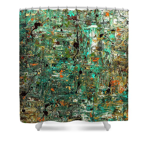 The Abstract Concept Shower Curtain
