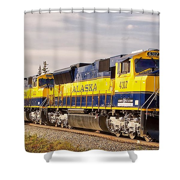 The Alaska Railroad Shower Curtain