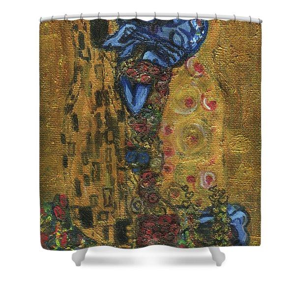 The Alien Kiss By Blastoff Klimt Shower Curtain