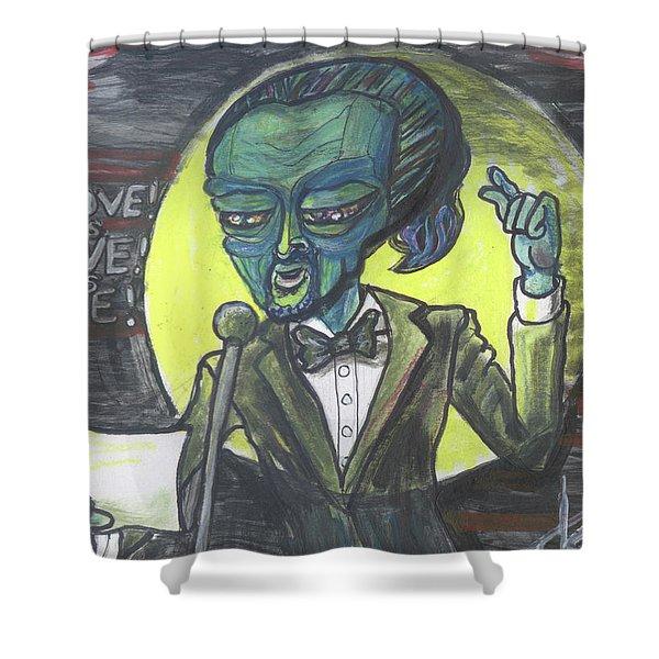 The Alien Lin-manuel Miranda Shower Curtain