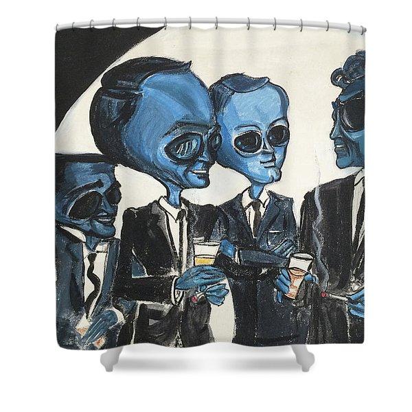 The Alien Rat Pack Shower Curtain
