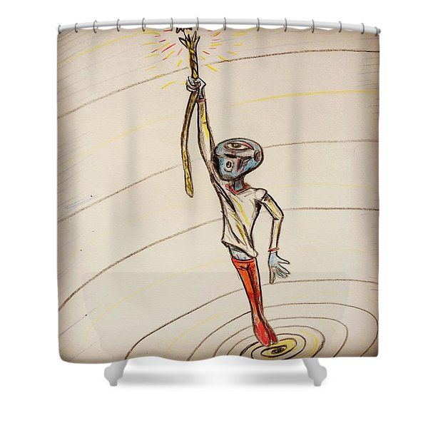 The Aliens Least Favorite Dream Shower Curtain