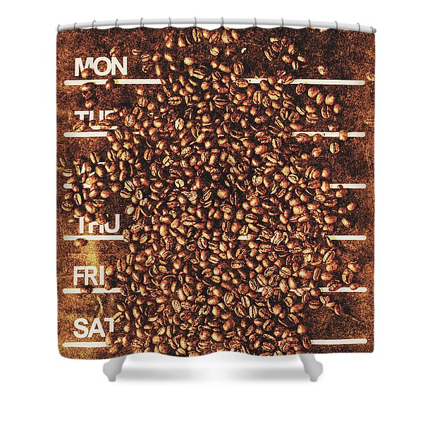 The All Week Coffee Break Shower Curtain
