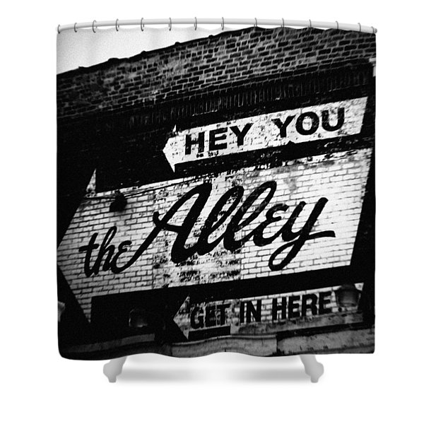 The Alley Chicago Shower Curtain