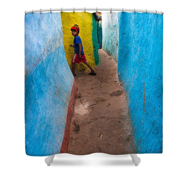 The Alleyway Shower Curtain