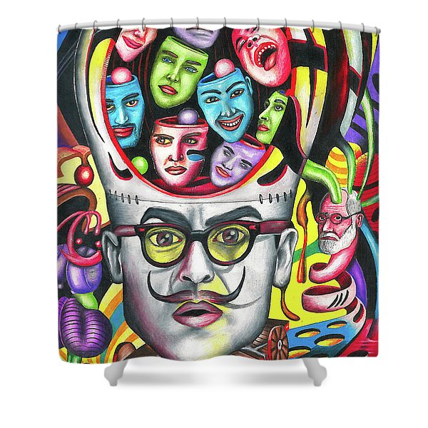 The Alluring Web Of Radical Thought Shower Curtain