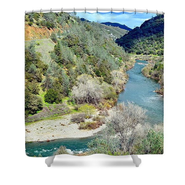The American River Shower Curtain