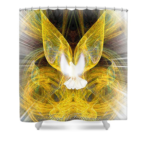 The Angel Of Forgiveness Shower Curtain