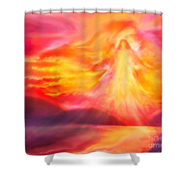 The Angel Of Protection Shower Curtain