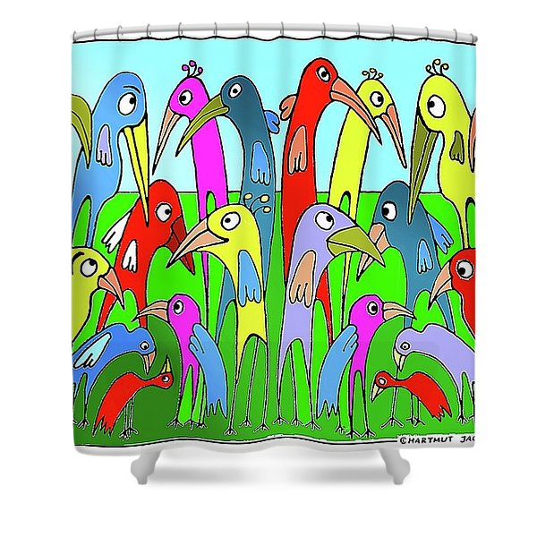 The  Annual General Meeting Shower Curtain