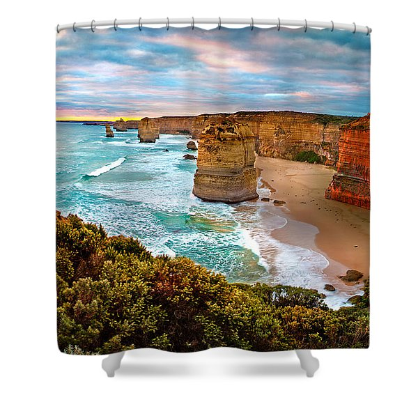 The Apostles Sunset Shower Curtain