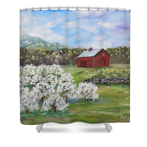 The Apple Farm Shower Curtain