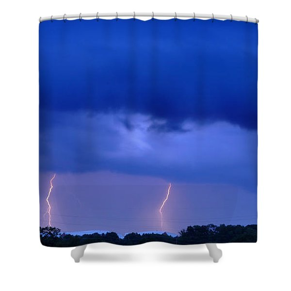 The Approching Storm Shower Curtain