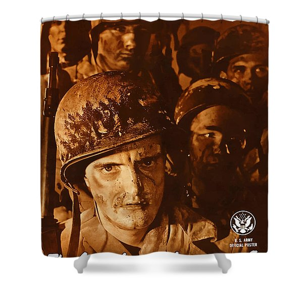The Army Is Counting On You  Shower Curtain