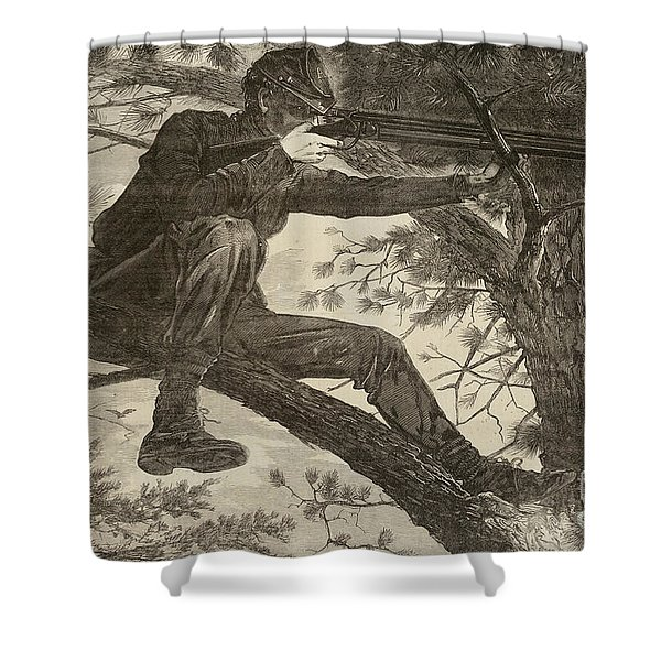 The Army Of The Potomac  A Sharpshooter Shower Curtain