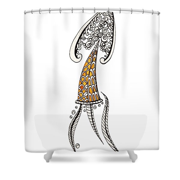 The Arrow Party Hat Shower Curtain