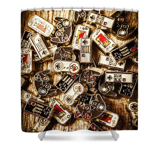 The Art Of Antique Games Shower Curtain