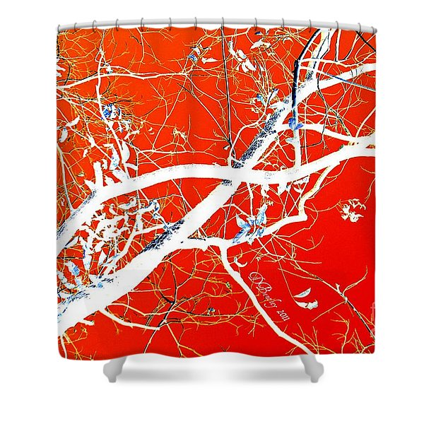 The Asian Tree Shower Curtain