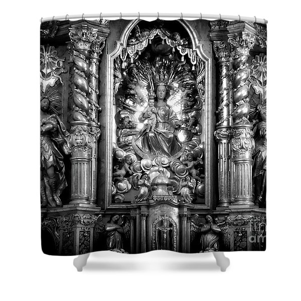 The Assumption Of Mary Pilgrimage Church Shower Curtain
