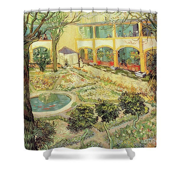 The Asylum Garden At Arles Shower Curtain