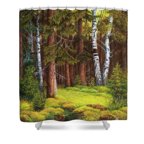 The Autumn Is Coming Shower Curtain