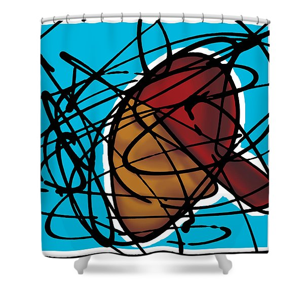 The B-boy As Icon Shower Curtain