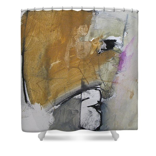 Shower Curtain featuring the painting The B Story by Cliff Spohn