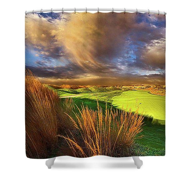 The Back Nine Shower Curtain