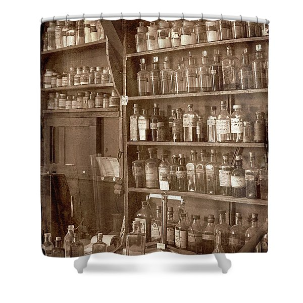 The Back Room In Sepia Shower Curtain