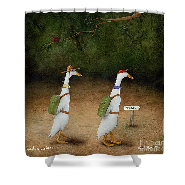 The Backquackers... Shower Curtain