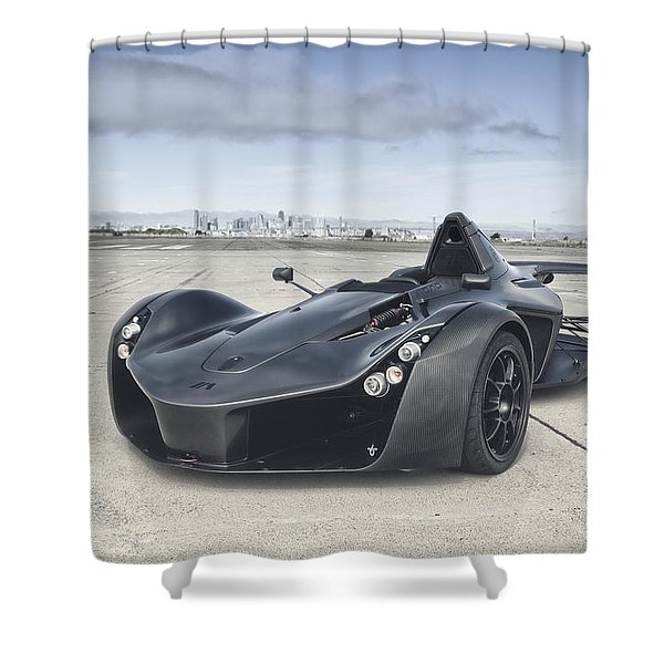 The Bacmono Shower Curtain