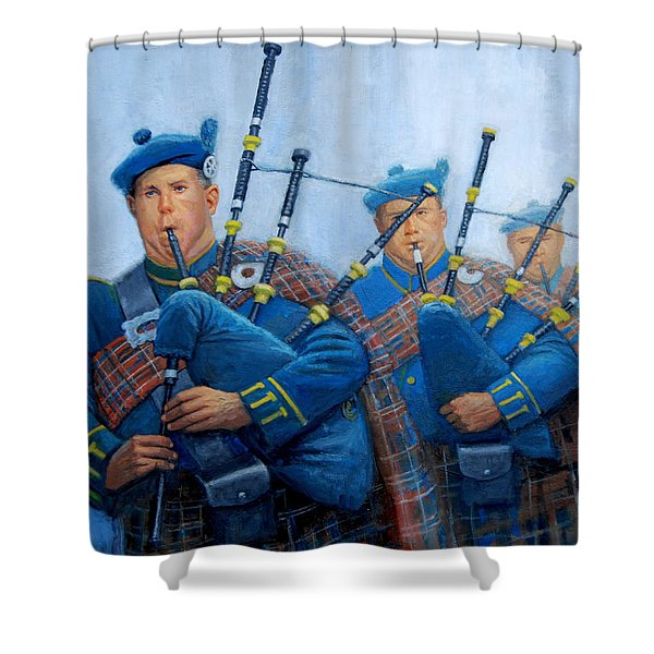 The Bagpipers Shower Curtain